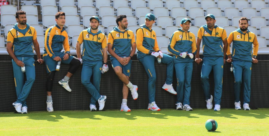 pakistan cricket team during practice in england