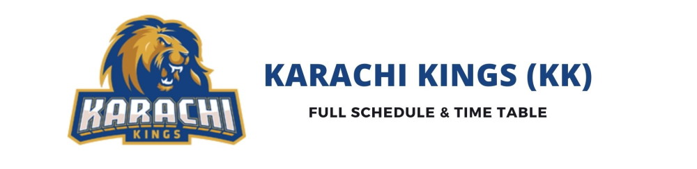 karachi kings schedule