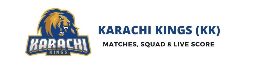 Karachi Kings PSL Team, Squad, Schedule, Live Score