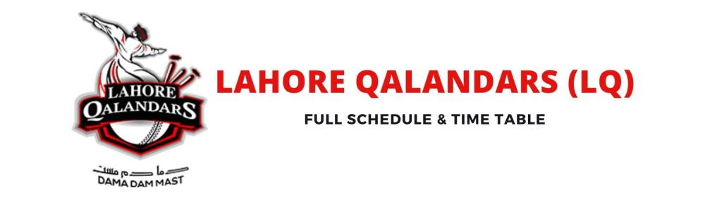 lahore qalandars schedule