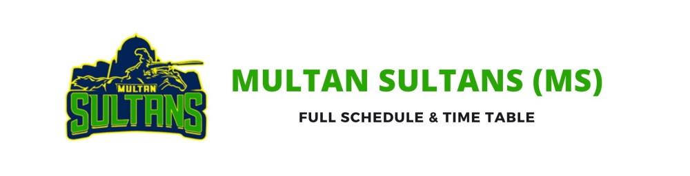 multan sultans schedule