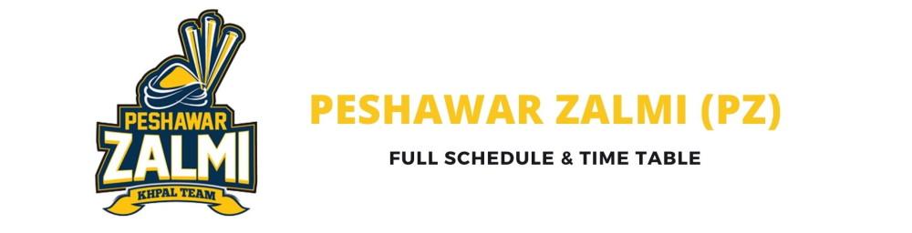 peshawar zalmi schedule